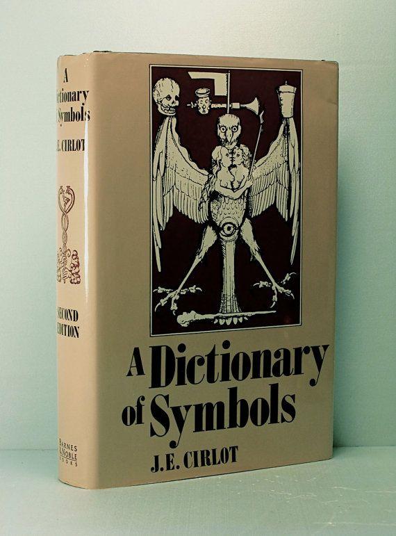 A DICTIONARY OF SYMBOLS by Juan Eduardo Cirlot - Illustrated Vintage Hardcover w/ Dust-Jacket (1993)
