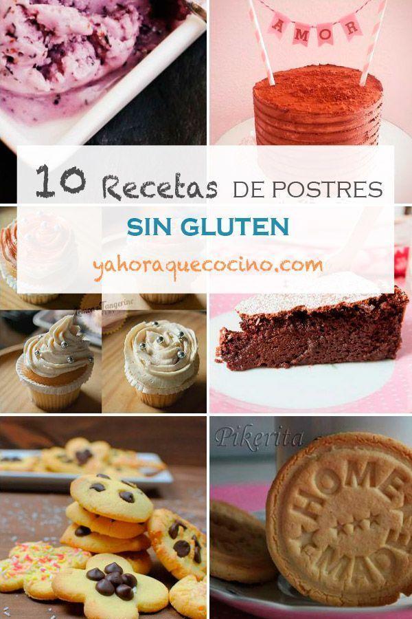 10 Recetas de Postres Sin Gluten es una recopilación de postres para celíacos en los que se utilizan harina de almendra, trigo sarraceno, almidón de maíz...