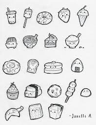 easy cute food drawings - Google Search