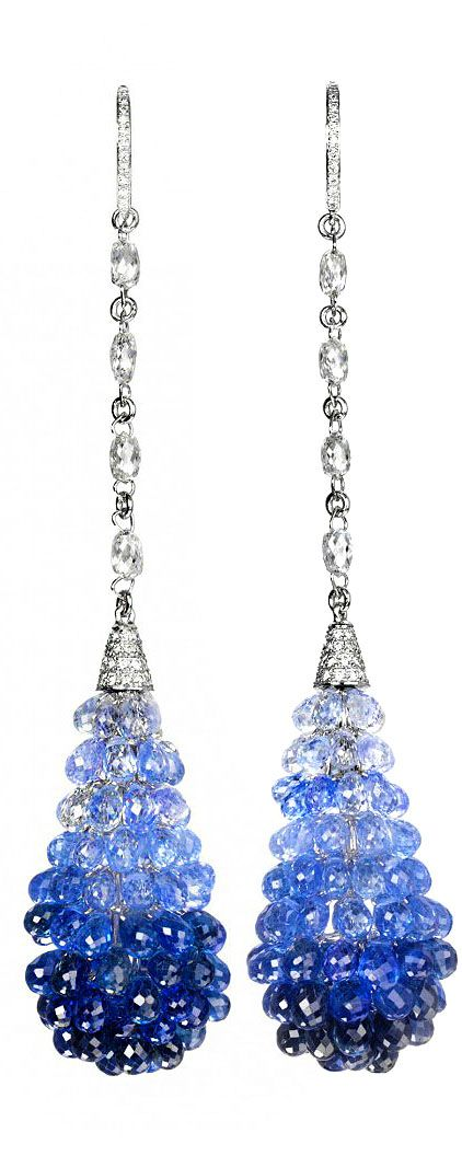 Chopard sapphire and diamonds copacabana earrings que belleza! se podrá imitar…