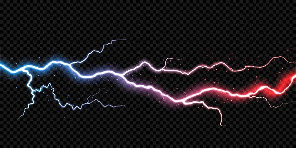 Lightning Electric Thunder Storm Light Flash Vector Realistic Lightning Electric Lightning Flash Lightning