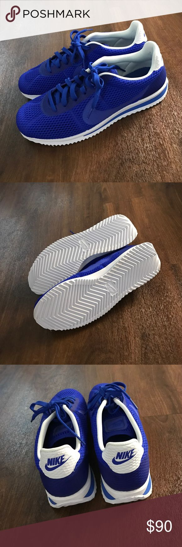 *NEVER WORN* Men's Blue Nike Cortez - Size 10.5 I'm selling these for my husband.  These are the Nike Cortez Ultra Breathe casual shoes in size 10.5. Never worn! Does not come with the original box. Nike Shoes Sneakers