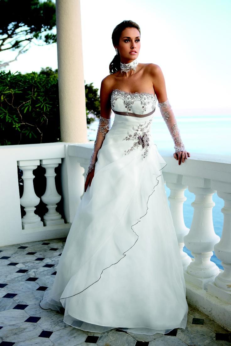 Mejores 10 imágenes de Bruidsjurken en Pinterest   Vestidos de novia ...