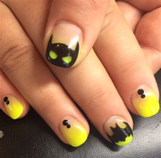 Day 26: Batman & Louboutin Nail Art - - NAILS Magazine
