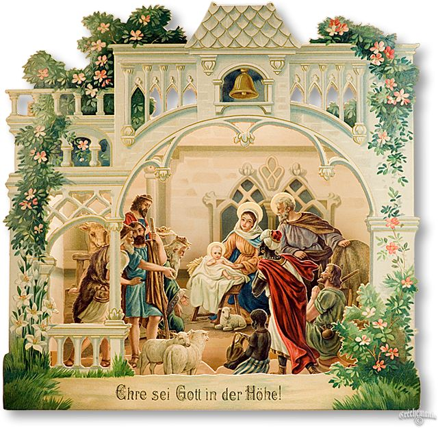 Victorian Paper Nativity