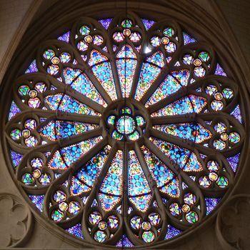 rose window.  St Clotilde, Paris