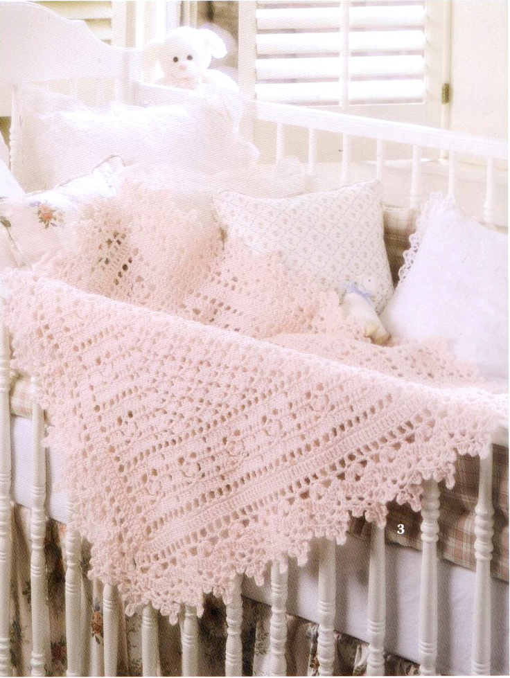 Crochet Pattern Pink Victorian Baby blanket for your baby ...