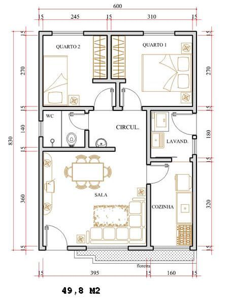 casa 1 planta 50 M2 2 recámaras