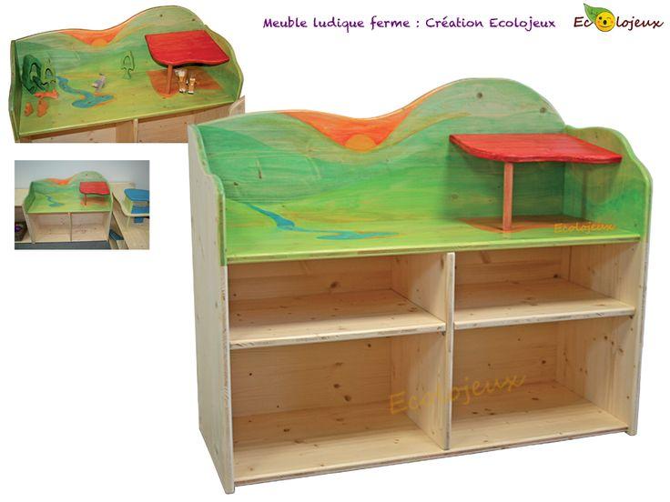 Meuble de rangement et mobilier de jeu en mªme temps Création Ecolojeux Idéal pour