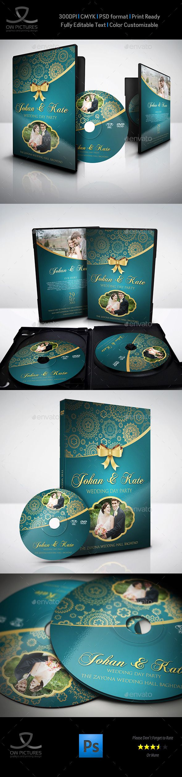 Wedding DVD Cover and DVD Label Template Vol.2