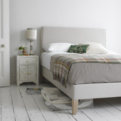 PIPER    The beauty of this bed lies in its simplicity and exquisite tailoring. We love the piping detail which requires one of our expert craftsmen in Nottingham hours to get just right. Comes with weathered oak legs and slightly sprung slats. Order yours from Loaf here: http://loaf.com/products/piper-bed