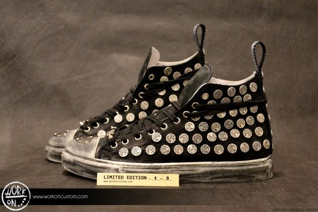 Work_On leather shoes - #leather #shoes #custom #studs #sneakers #workon #fashion #handmade #madeinitaly - www.workoncustom.com - mod. WORKONISSIMA