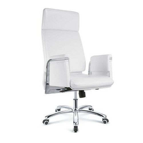 adjustable modern executive antifouling white leather office chair ergonomic manager swivel computer chairs