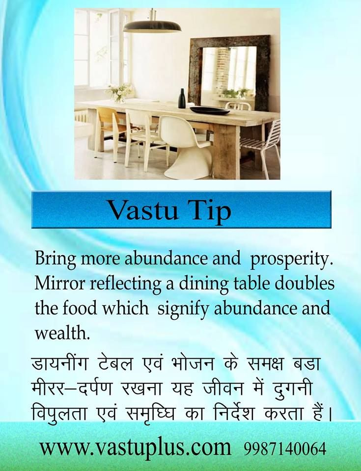 #Vastu #Tips #Dining #table #mirror #abundance #prosperity. www.vastuplus.com