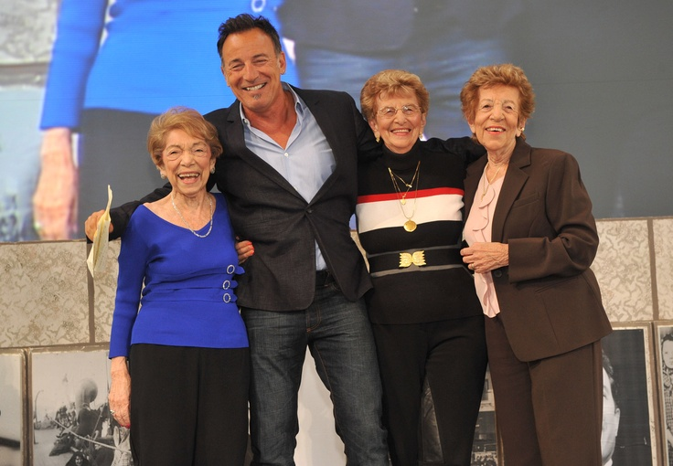 Bruce Springsteen, his mom & 2 aunts at the 2010 Ellis Island Family Heritage Awards where Bruce was honored.  Check out his speech. http://bit.ly/Hgqo2d