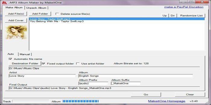 MakeitOne MP3 Album Maker | Microsoft Windows OS | Album