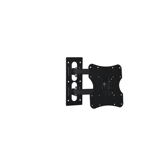 """Articulating LCD LED HDTV Tilt / Swivel TV Wall Mount Bracket (up to VESA 200x200) for 23 26 27 32 37 inch TV Screen by LUMI. $27.94. Adjustable Tilt/Swivel Arm Wall Mount for HDTV Specifications: - Supports VESA: 50x50mm/ 75x75mm/ 100x100mm/ 200x100mm/ 200x200mm - Swivel Range: up to 180° - Tilt Range: ± 20° - Wall to TV: 100mm (3.94"""") to 393mm (15.42"""") - Maximum weight capacity: 30kg / 66lbs - Color: Black Features: - Brand New Premium Slim Design - Scratch re..."""
