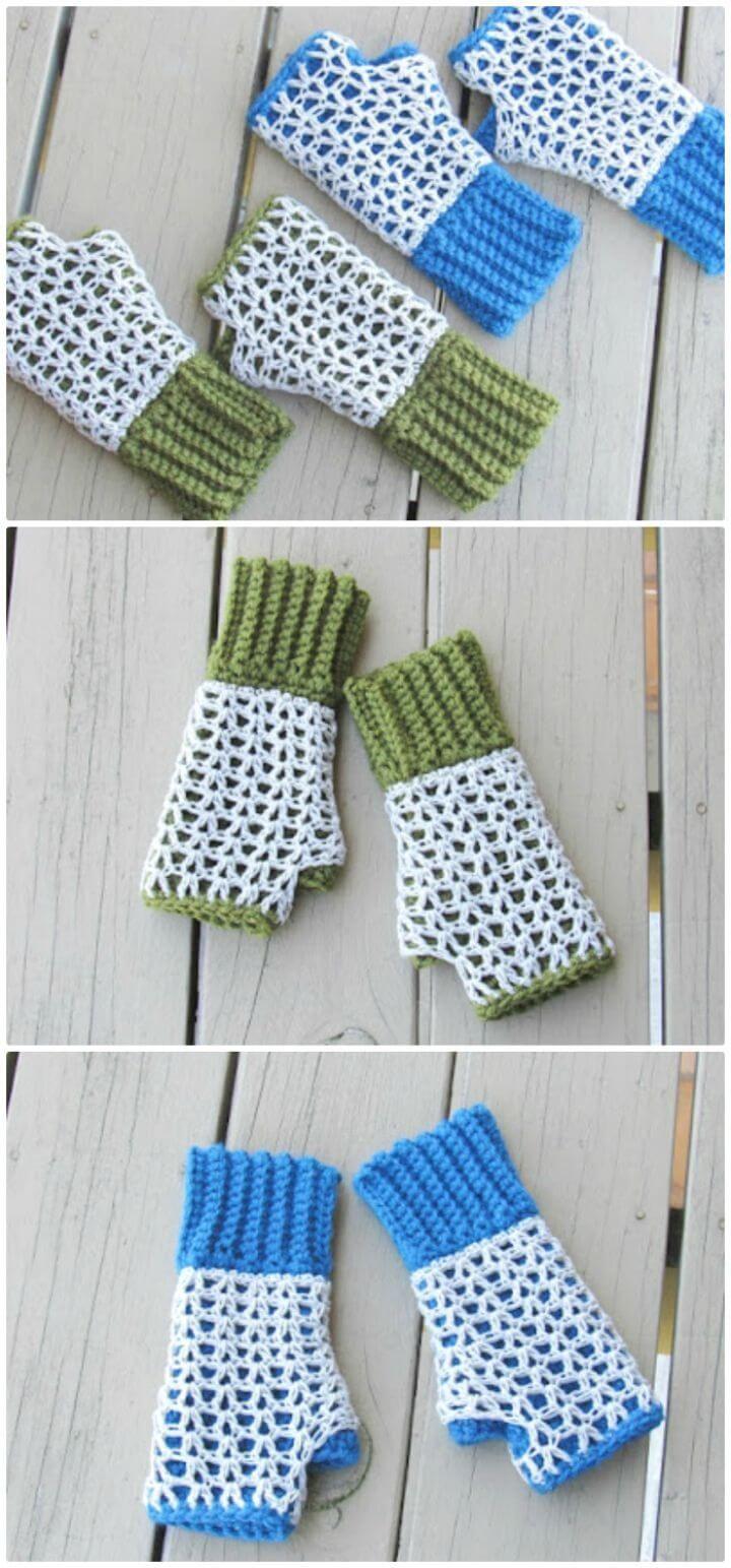 54 Free Crochet Fingerless Gloves Pattern for Beginners - DIY & Crafts
