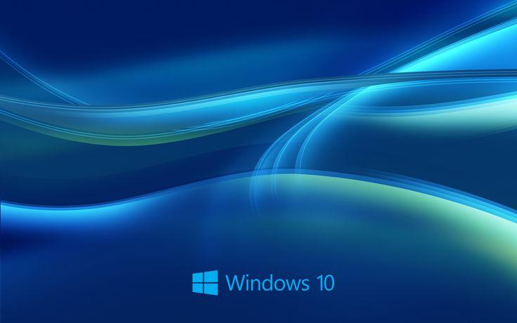 Windows 10 New Hd Wallpaper Wallpaper Windows 10 Free Desktop Wallpaper Blue Background Wallpapers