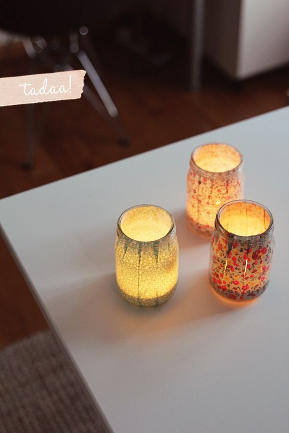 Now I know what to do with some of those mason jars with chips on the top rim!!!  so cute!!!