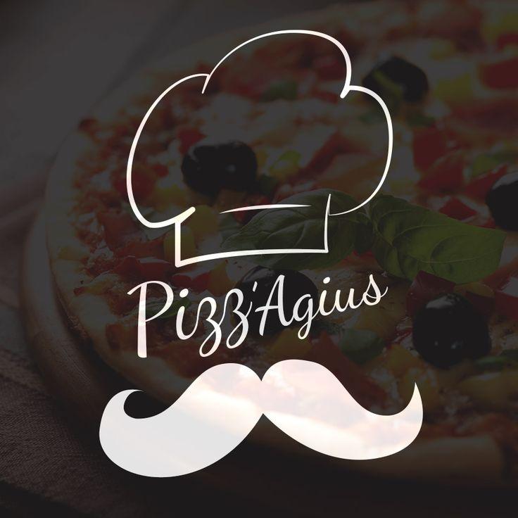 Logotype pour PIZZ'AGIUS. Livraison de Pizzas sur Fuveau et ses alentours. www.pizzagius.fr  By www.johndesign.net