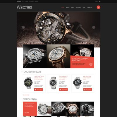 WooCommerce Template for Watches Website