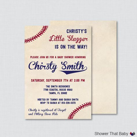 Hey, I found this really awesome Etsy listing at https://www.etsy.com/listing/234534337/baseball-baby-shower-invitation