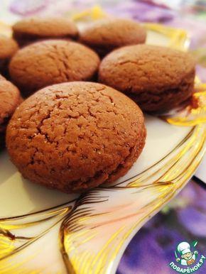 Постное шоколадно-малиновое и шоколадно-черничное печенье - кулинарный рецепт