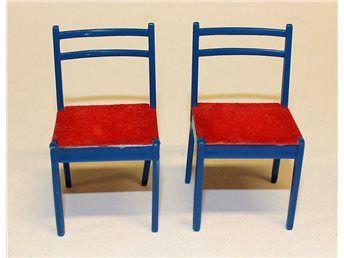 2 stolar till dockskåp, Brio från 1970-talet på Tradera.com -