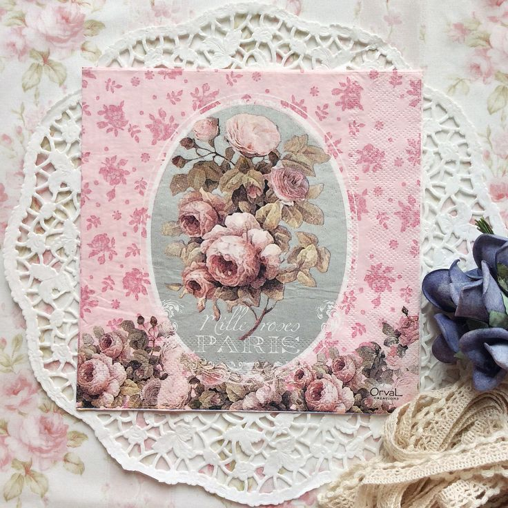 Napkin Papers Serviettens Decoupage Tissue  Orval Roses Paris 33x33 cm (1/4 folded)  IDR 15.000/pc Send me your inquiry to yufihandcrafted@gmail.com   Shabby Chic Victorian Cottage Vintage Retro Rose Floral Flower Paper Napkins  And get a special discount for bulk order!