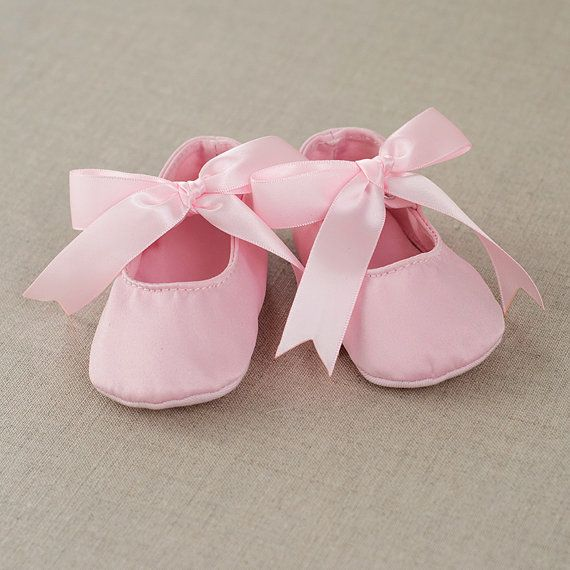 Baby Shoes Pink Satin Mary Jane Prewalkers Booties, Baby Girl Satin Bow Shoes, Baby Girl Pink Satin Shoes, Baby Girl Pink Booties