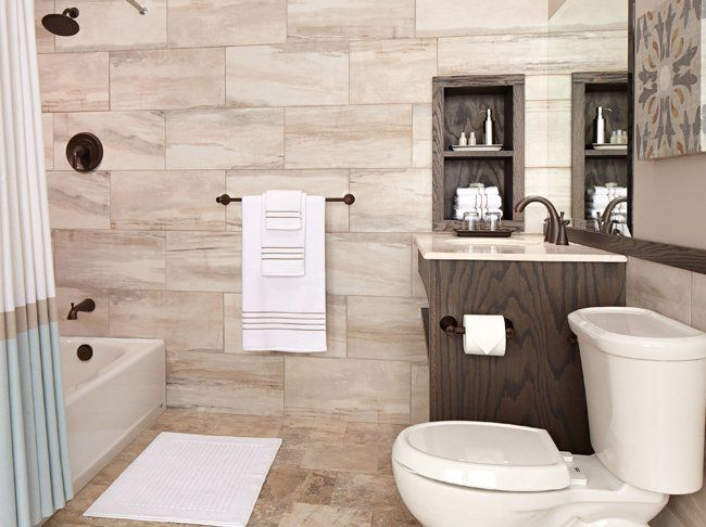 Contemporary bath with American Standard fixtures from Worly ...