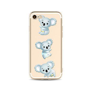 Etui til iPhone 7 pluss 7 deksel gjennomsiktig mønster bakdeksel case tegneserie koala soft tpu for eple iphone 6s pluss 6 pluss 6s 6 se – NOK kr. 310