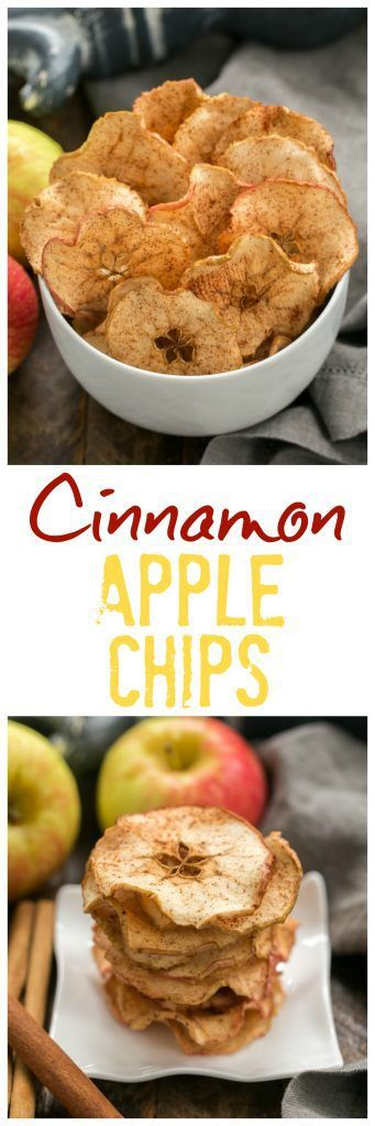 Cinnamon Apple Chips | An irresistible 3-ingredient snack #snack #apple #chips