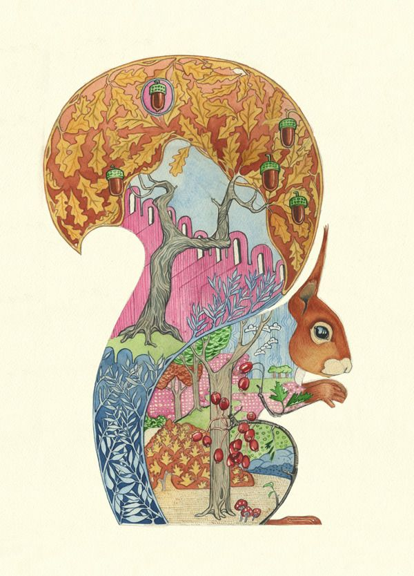 Red Squirrel - Print | Animal Cards and Prints & Screen prints | The DM Collection | Daniel Mackie
