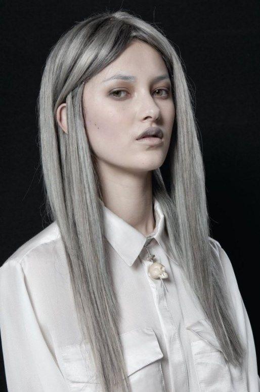 Темно серый цвет волос - http://popricheskam.ru/105-temno-seryj-cvet-volos.html. #прически #стрижки #тренды2017 #мода #волосы