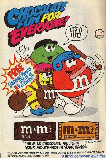 Old M&M advertisement