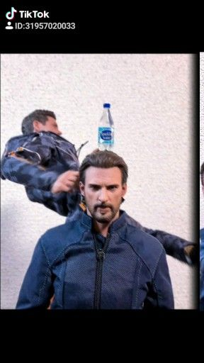 When Tony and Steve attempted the bottle cap challenge 😂