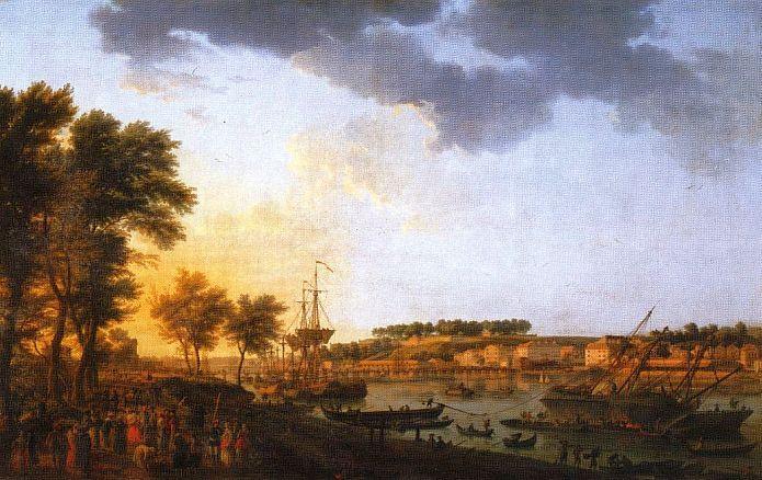 Vue du port de Bayonne par Joseph Vernet 1760