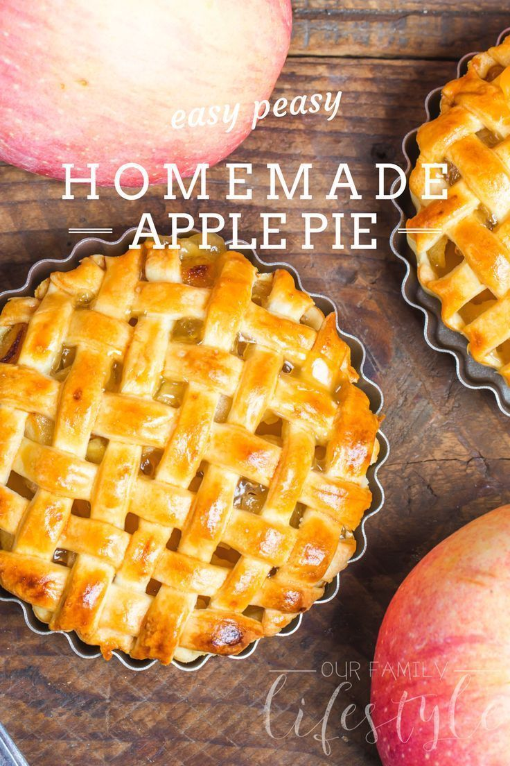 Not Really Homemade Apple Pie Recipe using canned apples, store bought pie crusts, and a little love in the kitchen.