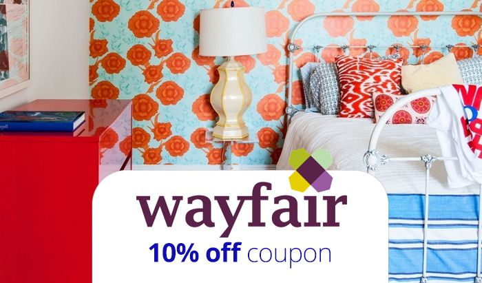 wayfair coupon code 2016 get 10 off plus free shipping. Black Bedroom Furniture Sets. Home Design Ideas