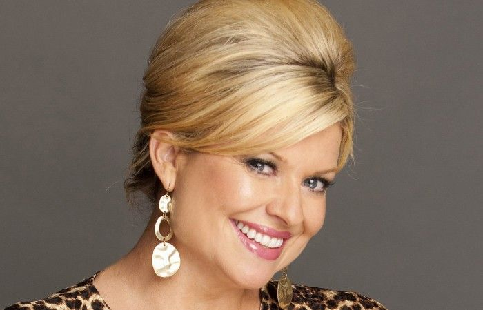Emily Symons has returned to the set of Home and Away after six months of maternity leave. She plays Marilyn Chambers in the Australian soap.