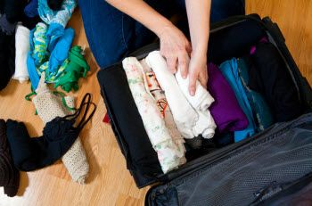 Travelling is something I love to do and Ms. Poole shows how to pack 10 days worth of clothing into a standard carry on size!  No need to even have someone sit on the bag to zip it!  :)