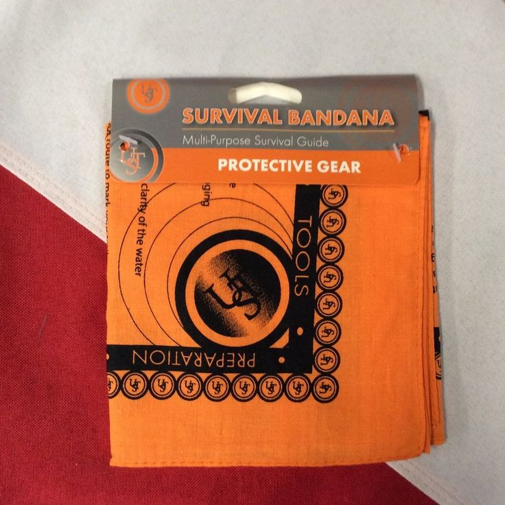 Survival Bandana multi purpose emergency preparadness tactical UST pocket guide #UST