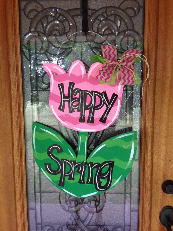 Wood Easter Door Hanger