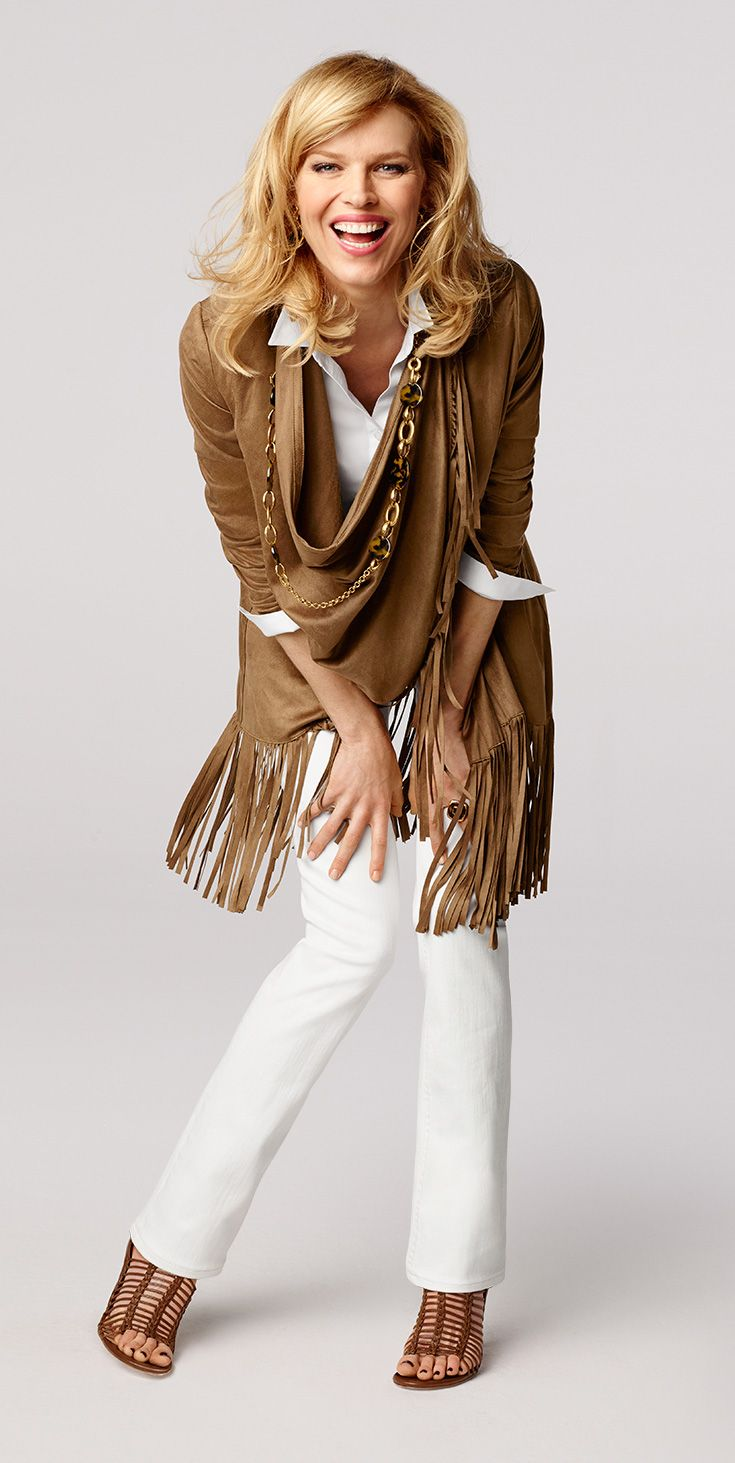 Suede? Check. Fringe? Check. Two of fall's biggest trends come together in this super-chic jacket.