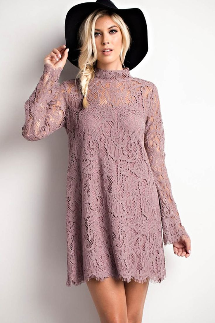 - This timeless number is the epitome of an elegant party dress. The flattering shift shape means it's extra comfortable, while the luxurious lace design will have heads turning. Plus, it's layered ov