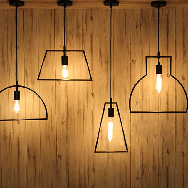 Vintage Loft Industrial lâmpada do teto caráter geométrico restaurante Bar luminária café de jantar restaurante lâmpada do teto