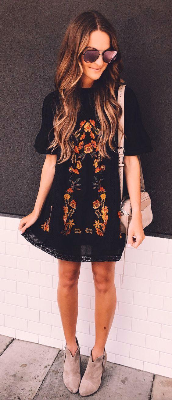 Black floral dresses for fall - Miladies.net