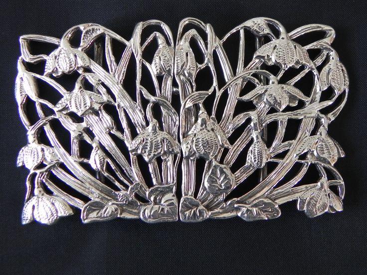Silver Belt Buckle London 1991 J A Campbell